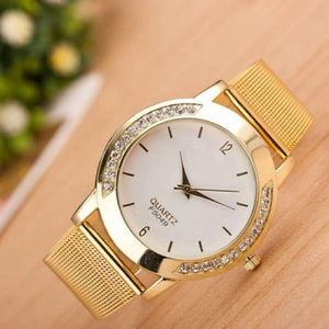 Fashion Womens Watches Crystal Stainless Steel Ana